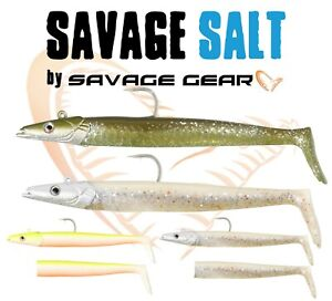Savage-Gear-Saltwater-Lancon-Lures-Sea-Fishing-Tackle-Lure-Jig-Head-Bass-Labre