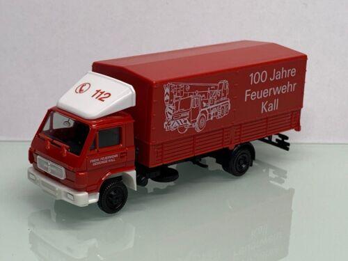Herpa bomberos Kall 100 años dispositivos auto Man VW g90 camastro lona 7898