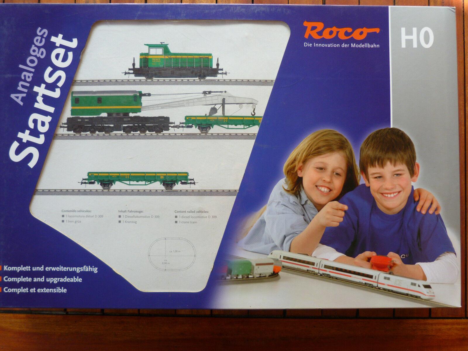Train Roco réf 51143 - Coffret de départ locotracteur et et et grue - Complet en boîte 694a5d