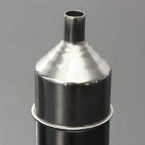2x-Trichter-Einfuelltrichter-50mm-Einmachtrichter-Flaschentrichter-Edelstahl