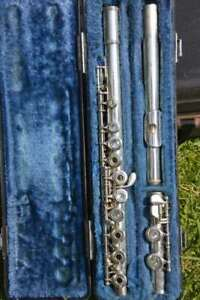 YAMAHA YFL 261 S FLUTE,OPEN HOLE,SILVER PLATE,READY TO PLAY! FLAUTO TRAVERSO