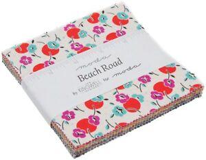 Beach-Road-Moda-Charm-Pack-42-100-Cotton-5-034-Precut-Fabric-Quilt-Squares