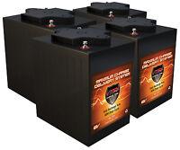 Qty 4 6v Lift Pallet Jack Batteries 24v Agm 6 Volt 225ah Ea Vmax Mb6 Maint Free