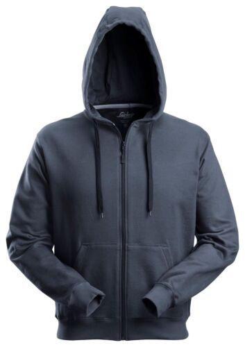 SNICKERS 2801 CLASSIC ZIPPED HOODY SWEATSHIRT HOODED NAVY BLACK