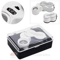 Jewelers Loupe 30x Magnifier 20mm Glass Lens Magnifying Illuminated Led/uv Light