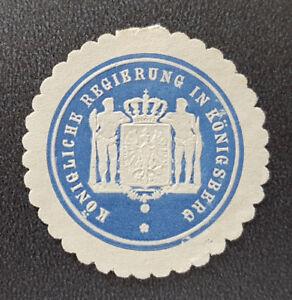 Siegelmarke-Vignette-Koenigliche-Regierung-in-Koenigsberg-8019-4