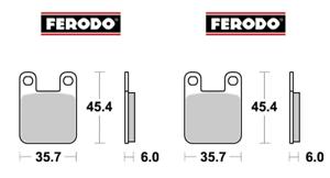 Frp405px2 Pastiglie Freno Anteriori Posteriori Fantic 125 Trial 1988 - 1994