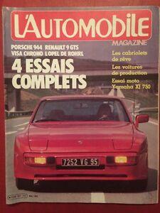 Automobile Magazine 05/1982 Porsche 944 Citroën Visa Chrono Renault 9 GTS - France - État : Trs bon état: Livre qui ne semble pas neuf, ayant déj été lu, mais qui est toujours en excellent état. La couverture ne présente aucun dommage apparent. Pour les couvertures rigides, la jaquette (si applicable) est incluse. Aucune p - France