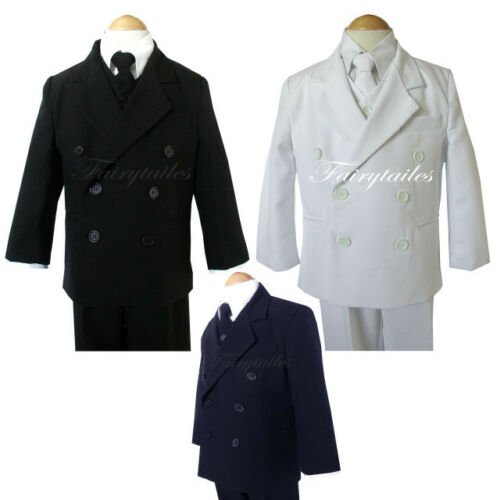DB Boy Black//White//Navy Tuxedo Formal Dress Suit Set