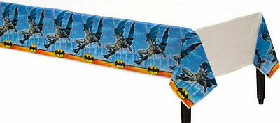 BATMAN PLASTIC TABLECLOTH COVER BIRTHDAY PARTY BRIGHT SUPERHERO LARGE BOYS BLACK