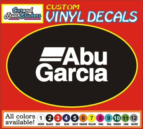 "6/"" ABU Garcia Fishing rod reels sports outdoors car truck vinyl decal Sticker"