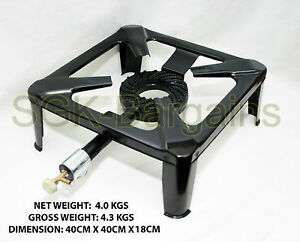 Cast Iron Burner Large Boiling Ring Restaurant Outdoor New