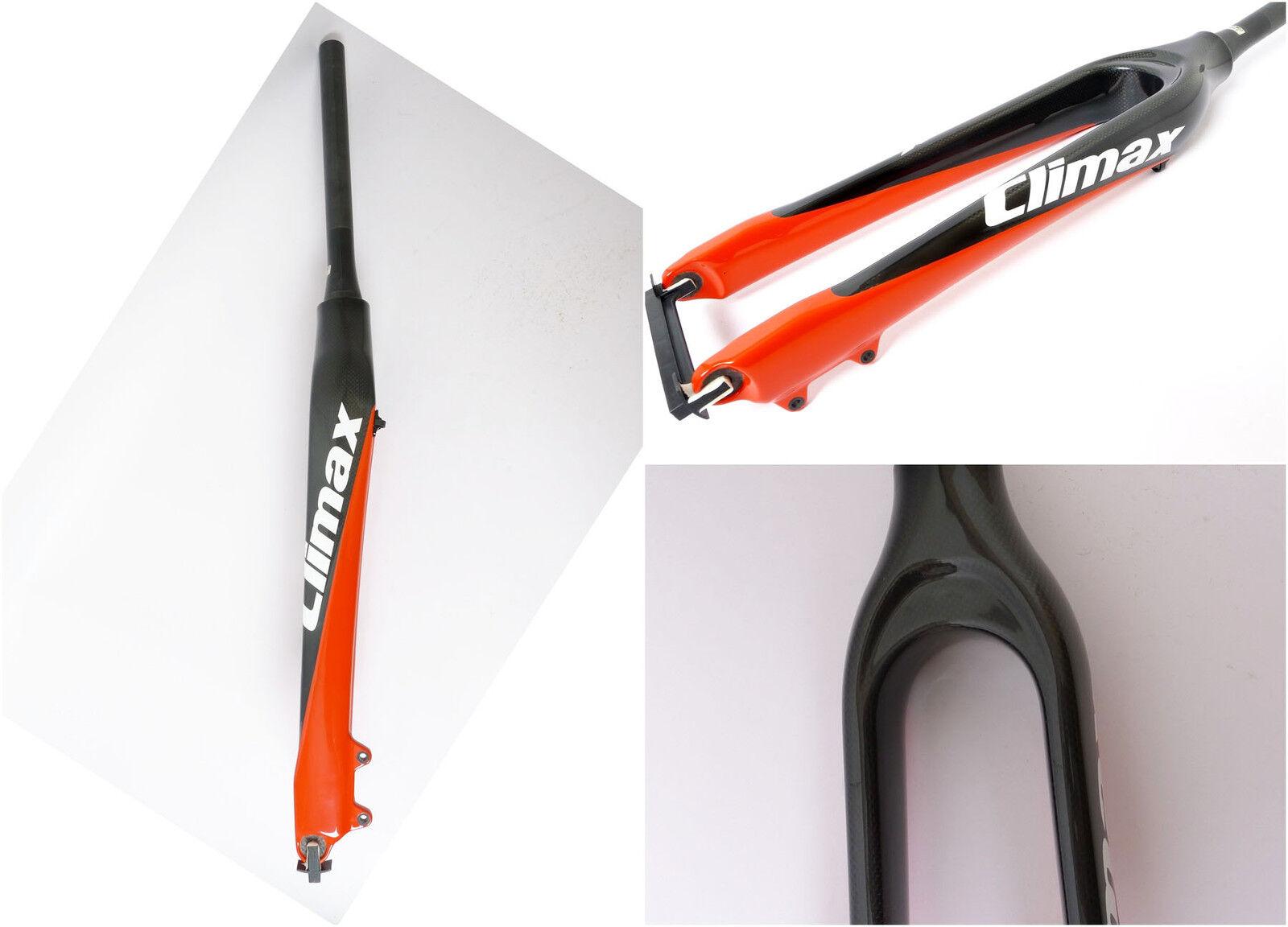 Mr-ride clímax Cónico 1.5 , brillo Horquilla de Cochebono Bicicleta De Montaña Xc 29  585g Negro Rojo