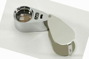 WOW Präzisionslupe Ø25mm Vergr. 40x Lupe Vergrößerungslupe 2 Arten von Licht