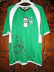 Maillot-de-football-ASSE-Polyester-Panthere-junior-14-ans-neuf-avec-etiquette