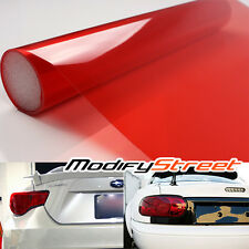"""12""""x48"""" JDM RED OUT TINT FILM OVERLAY WRAP ROLL FOR REAR TAIL LIGHTS/BRAKE LAMPS"""