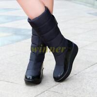 2017 Hot Womens Winter Snow Mid Calf Boots Fur Lining  waterproof Platform Shoes