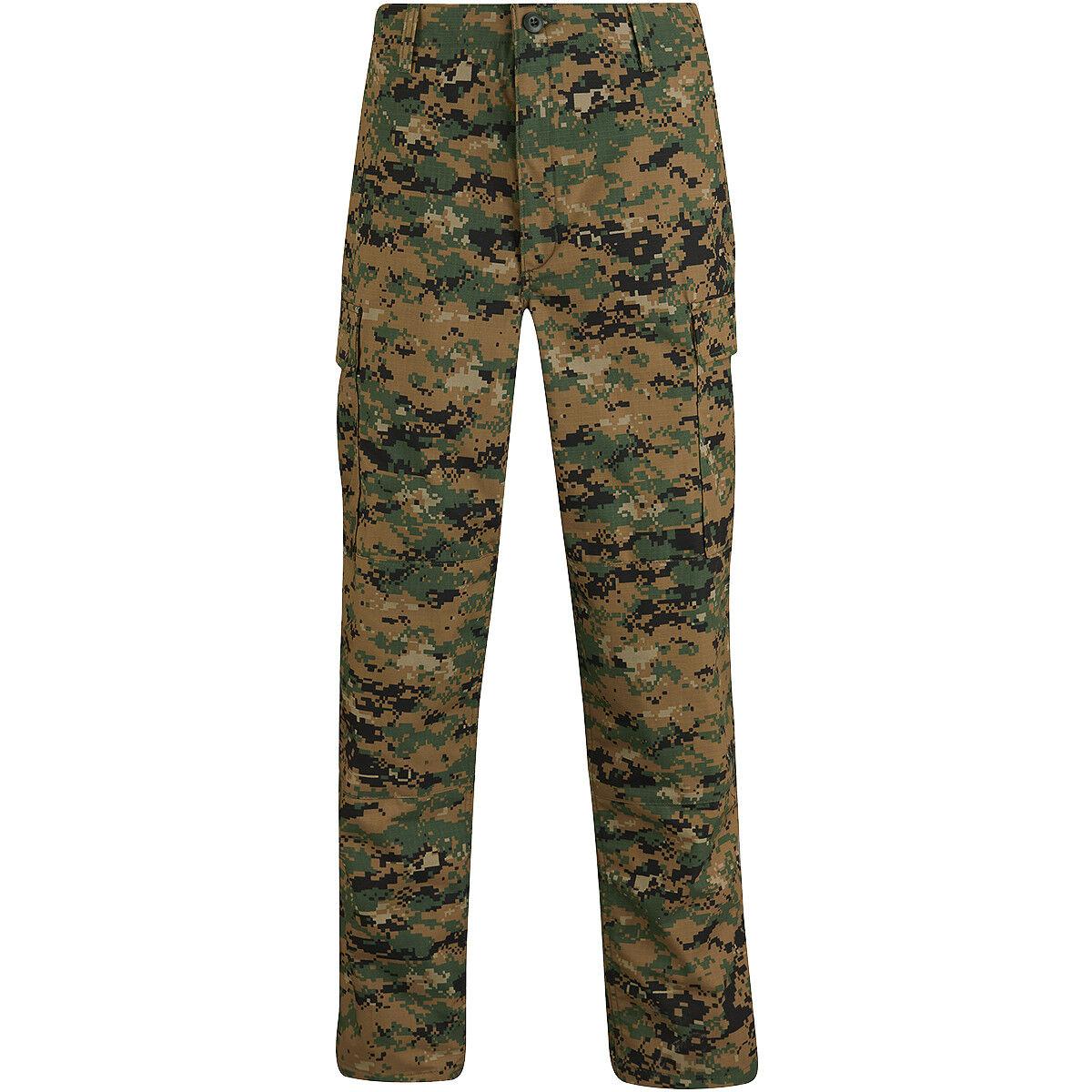 Propper Bdu Uniforme Pantaloni Ripstop Uomo Caccia Cargos Digital Woodland