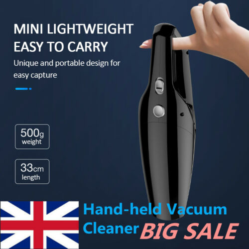Portable 150W 12V Handheld Cyclonic Car Vacuum Cleaner Wet/Dry Duster Dirt UK