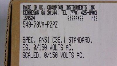 Crompton 549-78VA-PZPZ AC Voltmeter Input 150V 0-150V