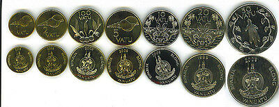 VANUATU: 7 PIECE UNCIRCULATED  SET, 1 TO 100 VATU