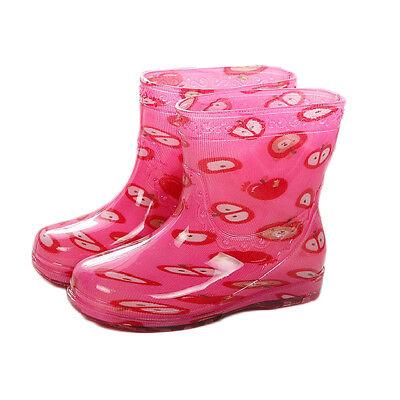 Durable Kids Boys Girls Rain Shoes Children Colorful Rain Boots Soft Rubber Shoe