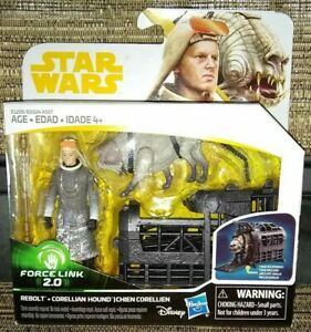 STAR WARS Forcelink 2.0 REBOLT and Corellian Hound Action Figures NEW