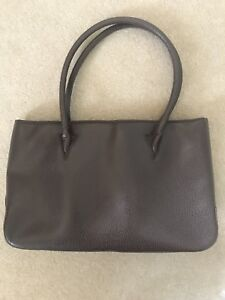 Leather Handbag Textured Elegant Brown Elegant Textured Brown Leather 1w7SYZqg