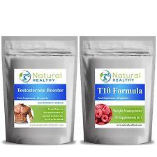 Testosterone Booster + Nero t10 Fat Burner-costruzione muscolare perdita di peso Combo