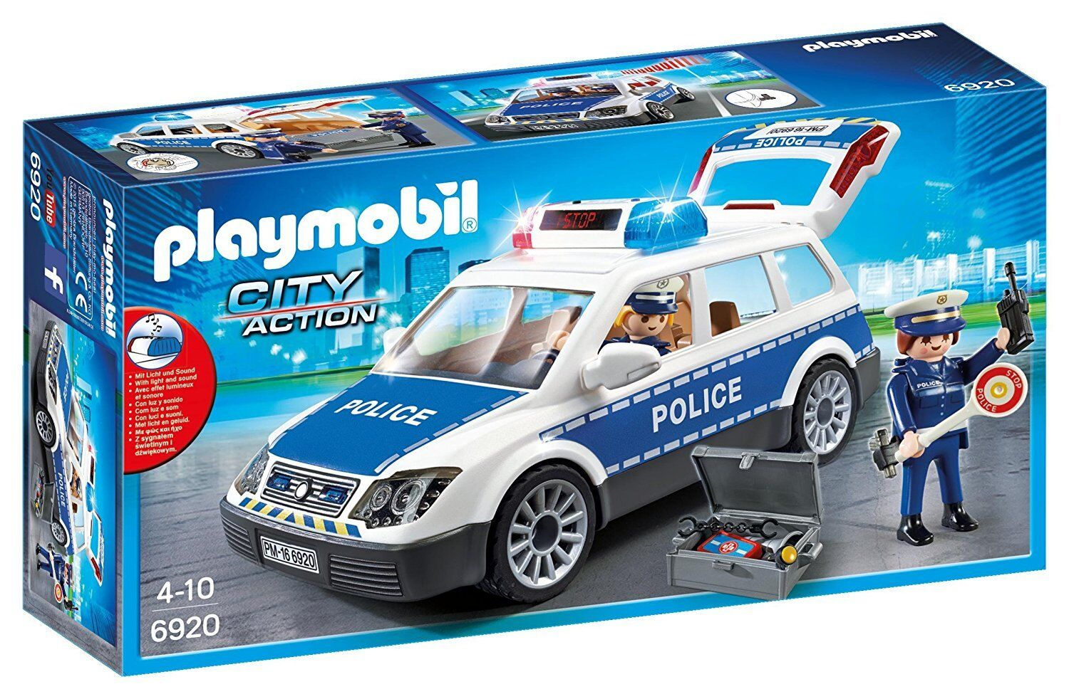 Playmobil City Action 6920 Police Car with Lights and Sound