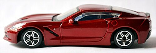 Chevrolet Corvette c7 Stingray Coupe 2014-17 rojo red metalizado 1:43 Bburago