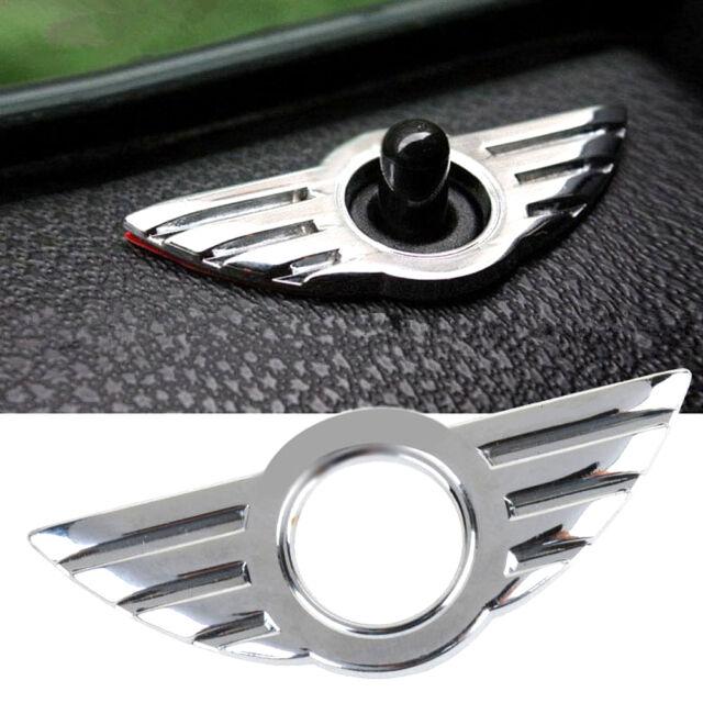 2 x 3D auto porta in metallo Pin Badge per BMW Mini Cooper//S//Uno//Roadster//CLUBMAN//COUPE