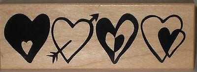 PSX Rubber Stamp - Four Heart Border