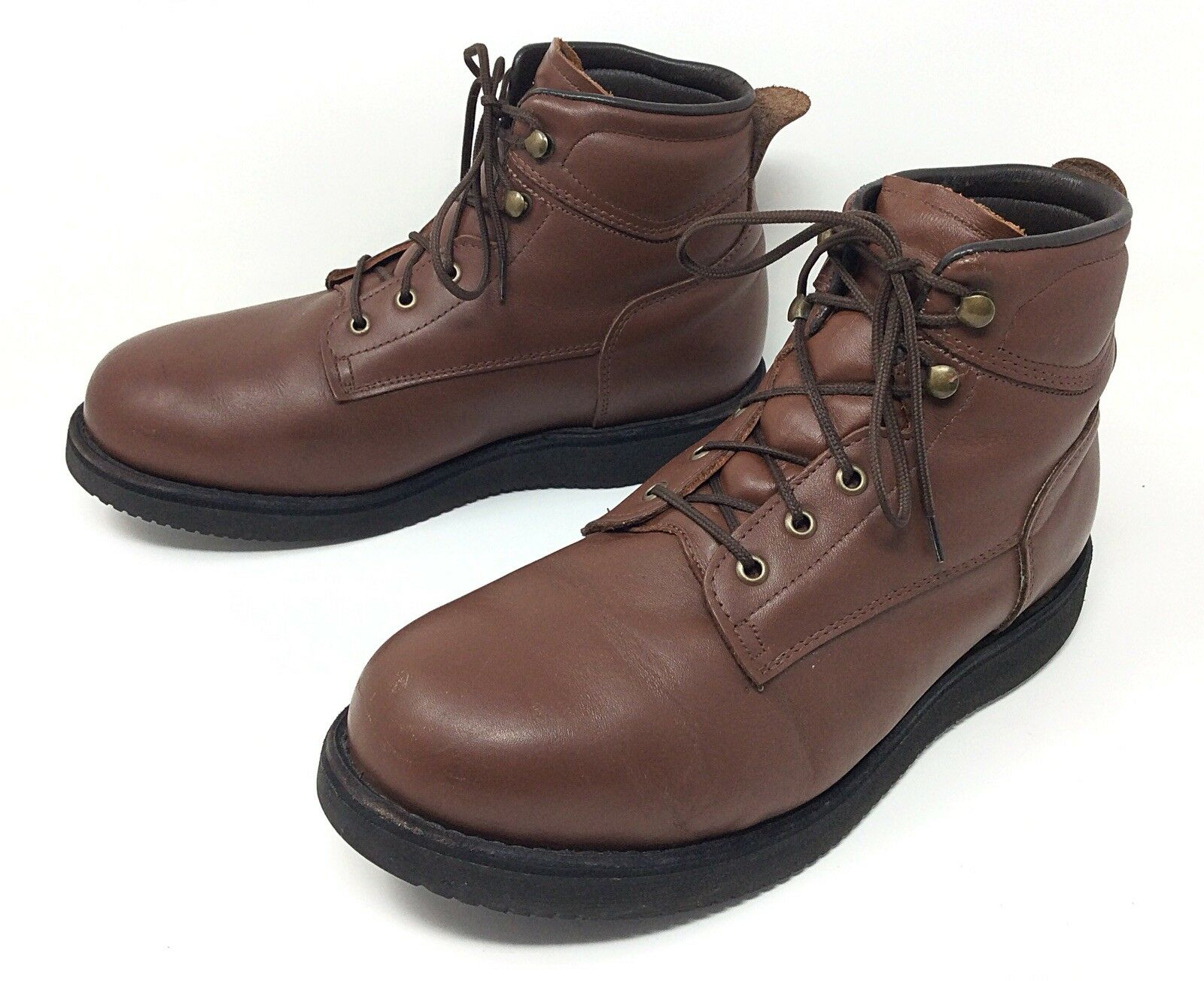 Men's Brown Leather Orthapedic Hiking Ankle Boots 3121 USA Sz. 10 EE
