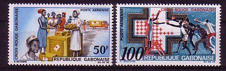 100% De Qualité Gabon Michel Numéro 306 - 307 Cachet Sang Nourrissant Et Esprit RéGulateur