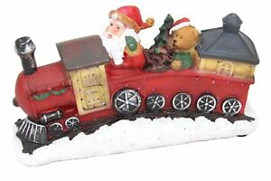 LIGHT-Up-LED-Glitter-Babbo-Natale-Babbo-Natale-Ornamento-del-treno