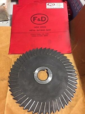 F/&D High Speed Metal Slitting Saw 8x.142x1-1//4 48T Side Chip Full Rad ***NEW***