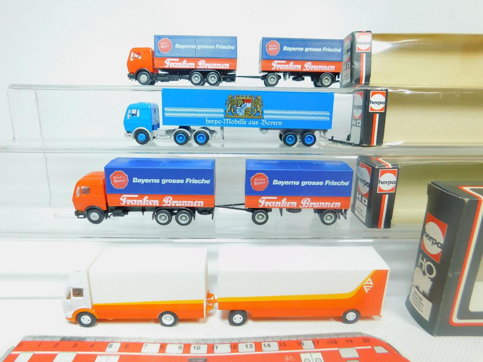 BO924-0,5  4x Herpa H0   1 87 Camion MB   811327 Frankenbrunnen  906320 Etc,Ovp