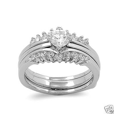 USA Seller Wedding Ring Set Sterling Silver 925 Best Jewelry Selectable 8mm