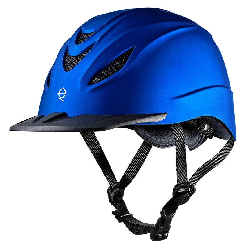 TROXEL INTREPID INDIGO Blau DURATEC LOW PROFILE PROFILE LOW HORSE WESTERN RIDING HELMET 48dd61