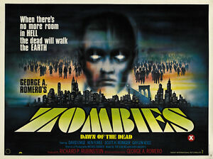Dawn of the Dead Horror movie poster print