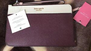 Kate-Spade-Cameron-Medium-L-Zip-Leather-Wristlet-Cherrywood-WLRU5438