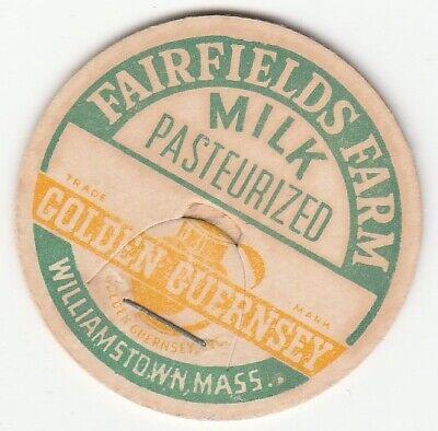 DAIRY CORONATION FARM MILK BOTTLE CAP MA WILLIAMSTOWN