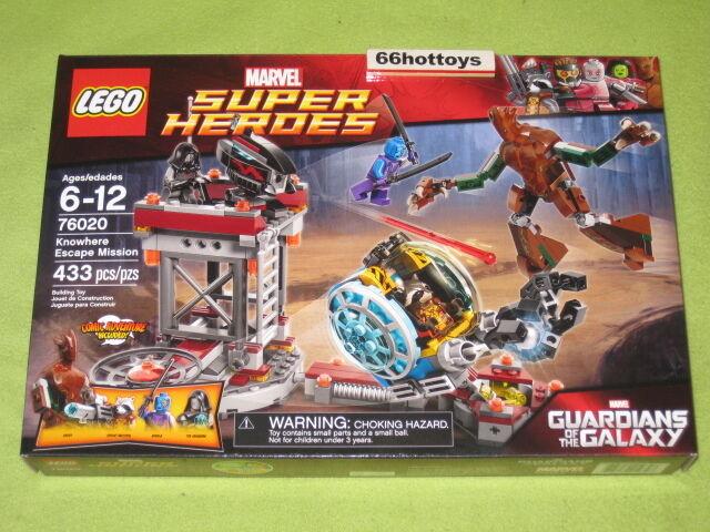 vendite online LEGO 76020 Marvel Marvel Marvel Super Heroes Knowhere Escape Mission nuovo  il più economico