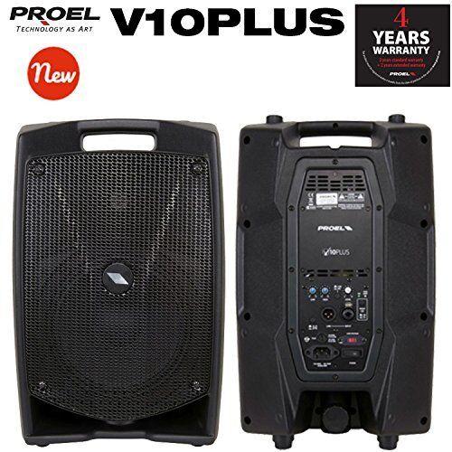 Proel V10PLUS Bargeld Monitor Diffusor BI amplified- 2 vie 600W Picco, Schwarz
