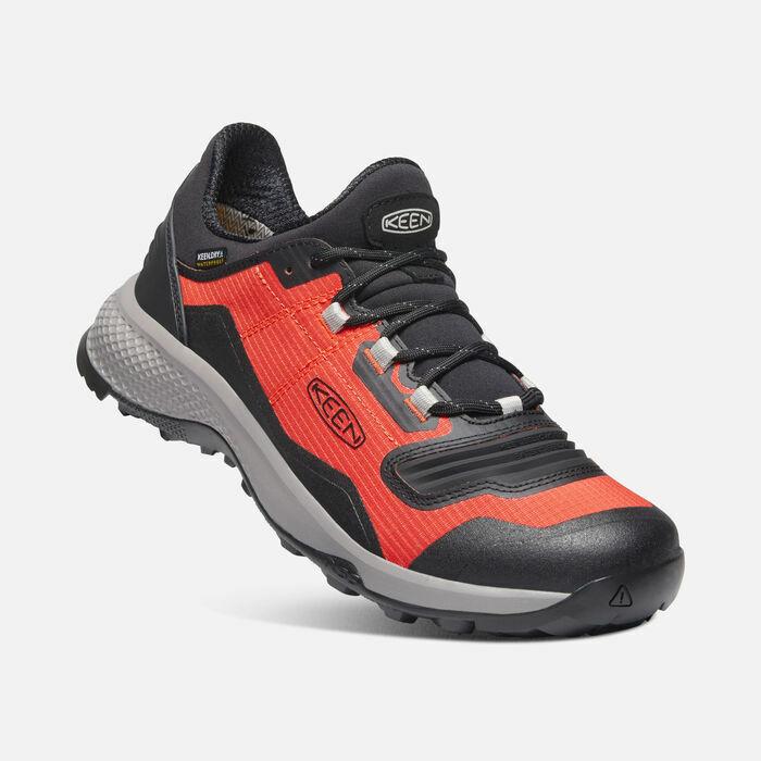 KEEN Men's Tempo Flex WP Hiking Shoes Orange/Black, Size 11, NEW