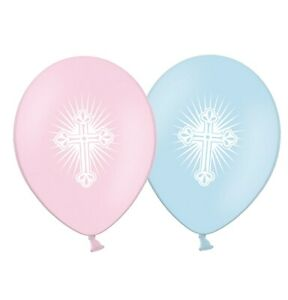 First-Holy-Communion-Radiant-Cross-12-034-Pink-amp-Blue-Assorted-Balloons-pack-of-25