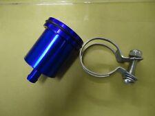 BILLET Aluminium BLUE  Brake Clutch Reservoir Pot - Streetfighter Cafe Racer