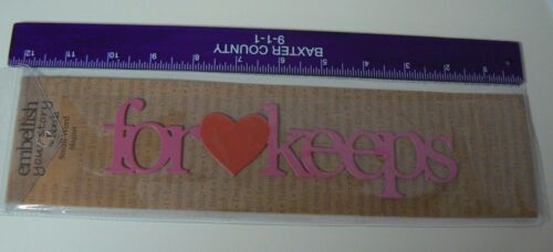 Details about  /Embellish Your Story Magnet FOR KEEPS Pink Red Heart Love Marriage Wedding NEW