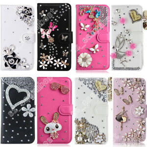 Jewelled-Bling-Case-Crystal-Rhinestone-Flip-Cover-Magnetic-Skin-for-Mobile-Phone